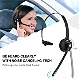 Mpow Pro Trucker Bluetooth Headset/ Office Wireless Headset with Mic, Handsfree Over the Head Earpiece, On Ear Bluetooth Headphones for Cell Phone, Call Center, Skype, Truck Driver