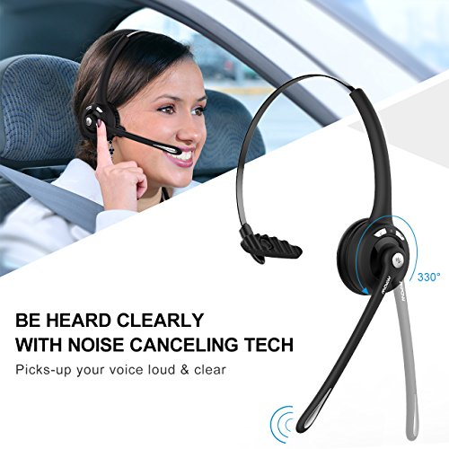 Best Mpow Pro Truck Driver Bluetooth Headset Office Headset Wireless Over The Head Earpiece W Mic On Ear Headset For Call Center Skype Voip 2 Pack Antica Trattoria Lu