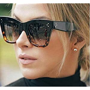 KHLSHOP Fashion Square Sunglasses Women Cat Eye Luxury Brand