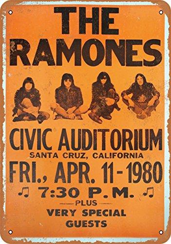 Metal Ramones (Wall-Color 7 x 10 METAL SIGN - 1980 The Ramones in Santa Cruz - Vintage Look Reproduction)