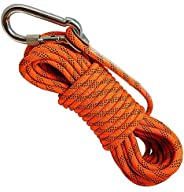 ISOP Outdoor Climbing Rope 30/50/75 ft (10/15/23 m) for Fitness and Strength 8mm - Training - Exercise - Worko