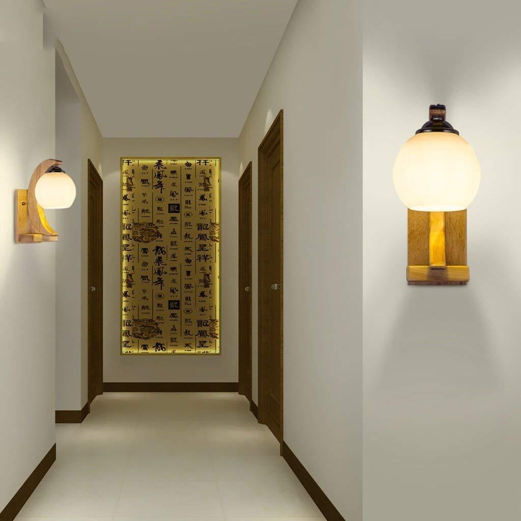 FuweiEncore Moderne Lampe Wandleuchte liest die Schlafzimmer Lounge Lounge Lounge Chinese Restaurant Massivholz Lampe Lampe kreative Form Korridor Beleuchtung (Farbe   -, Größe   -) 5fd674