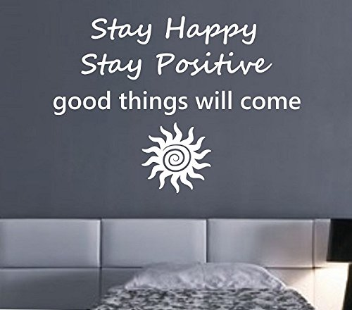 N.SunForest Stay Happy Stay Positive Good Vibes Buddha Namas