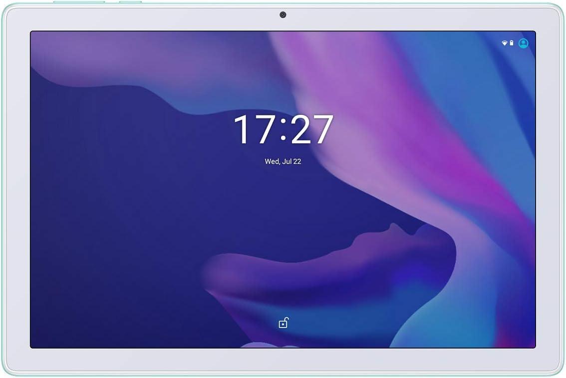 Alcatel 1T10 Smart TAB (Wi-Fi), 32GB+2GB RAM, 10.1-inches HD IPS Tablet, Eye Protection, Kids Mode + Flipcase (Cream Mint)