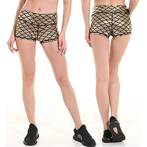 sirena Pantaloncini donna Pantaloncini Oro Pantaloncini sexy da da Pantaloncini Duanmei corti corti sportivi qdCwx0