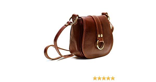 b1449f007f94 Floto Women s Saddle Bag in Brown Italian Calfskin Leather - handbag  shoulder bag  Handbags  Amazon.com