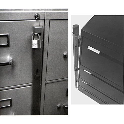 Locking Bar for Use with 4 Drawer Filing Cabinet (cabinet not included) - 2 Pack (Used Cabinet 4 File Drawer)