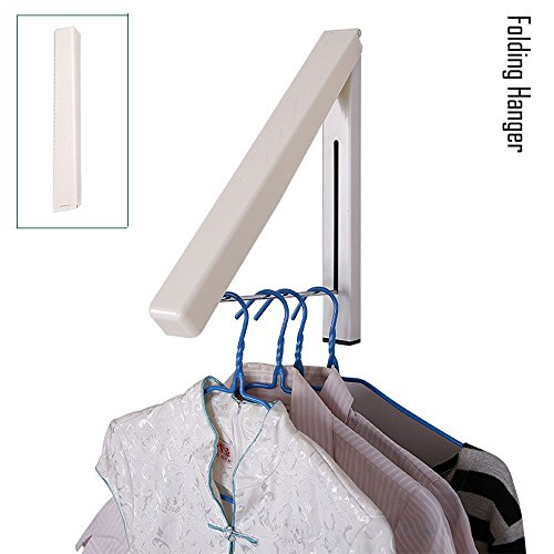 SUYUE Folding Clothes Hanger Wall Mounted Retractable Clothe