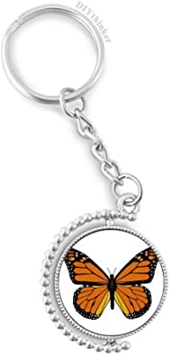 Personalized Butterfly 6 inch Wristlet Key Chain Key Fob Free Shipping