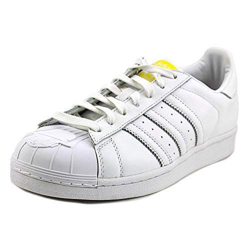 Adidas Superstar Pharrell Supershell Mens-sneakers S83350 Bianco / Bianco / Giallo