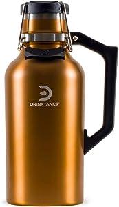 NEW DrinkTanks 64 oz Vacuum Insulated Stainless Steel Beer Growler