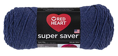 Yarn Denim Acrylic (Red Heart Super Saver Yarn, Denim)