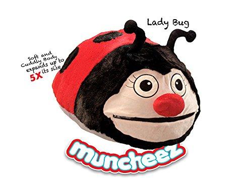 Ladybug Hamper Set (Muncheez Stuffed Animal Toy Organizer for Children, Ladybug)