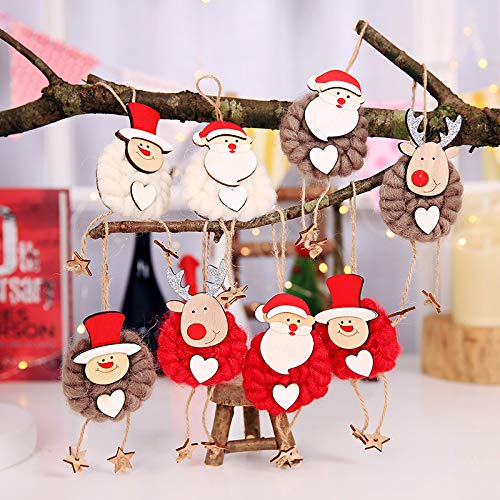 URYKEE Christmas Hanging Decoration Kit, 3PCs Merry Christmas Christmas Felt Doll Hanging Pendant Ceiling Decoration for Xmas Winter Holiday Party Decor Supplies (White) by URYKEE (Image #2)