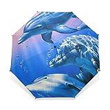 Yochoice Easy Carrying Folding Umbrella, Cute Chocolate,Compact Windproof Travel Rain Umbrella