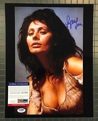 SOPHIA LOREN PSA DNA Coa Hand Signed 11x14 Photo Autograph -