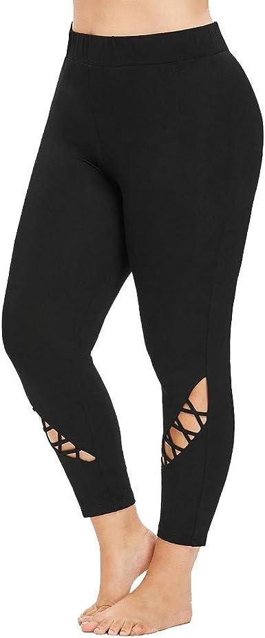 Pantalones Leggings Vestir Deportivos Yoga para Mujer Otoño Invierno 2018 PAOLIAN Pantalones Running Fitness Moda Cintura Alta Jogger de Chandal Pantalone Tallas Grandes Elástica Hueco Señora: Amazon.es: Ropa y accesorios