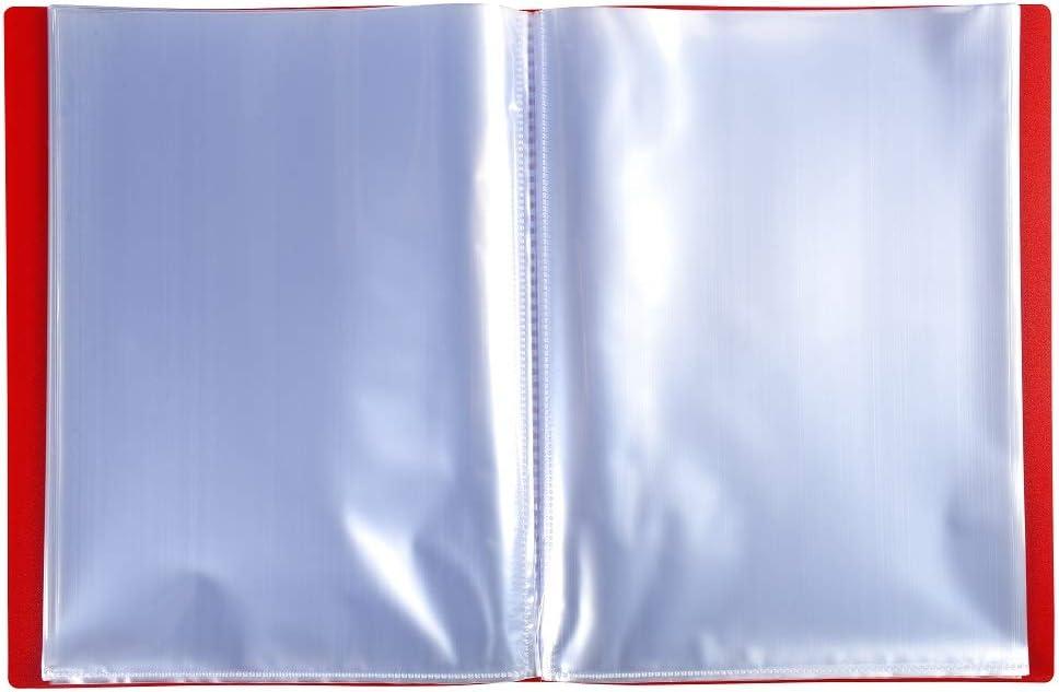 Exacompta 88226E Portalistini Opak in polipropilene opaco con buste interne lisce ad alta trasparenza Formato A4 Colore della copertina  Viola 20 buste e 40 facciate