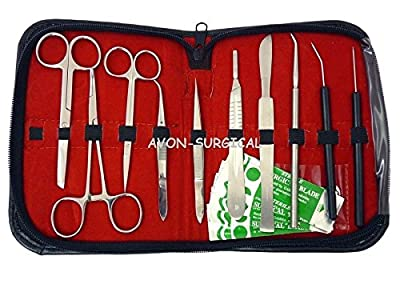 New set of 20 piece Dissecting Set - Advanced Biology Dissection Instruments set with blade # 22
