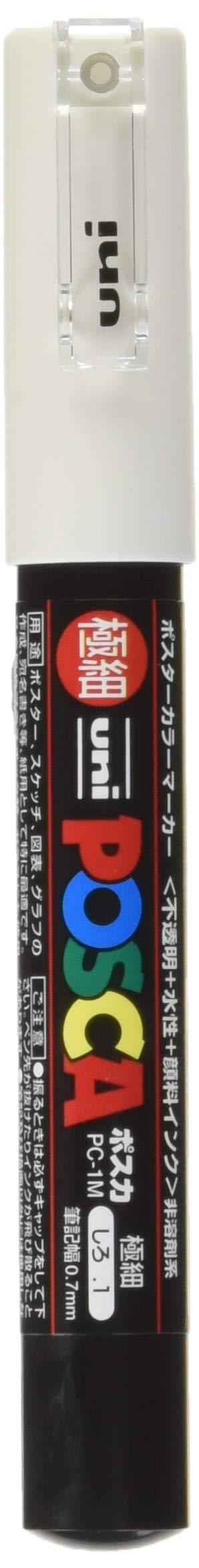 Uni Posca Extra Fine Marker, White (PC1M.1) by uni (Image #1)