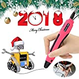 Pink 3D Pen for Kids, 3D Printing Pen Compatible with PCL Low Temp. Filament Mode, 3D Doodler Printer Pen/One Key Control, Easy to Use, 3D Drawing Pen for Beginners