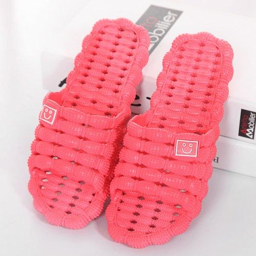 pantofole rosso1 sweet interno cool di donne matura home e pantofole Il plastica ciabatte di antiscivolo bagno DogHaccd L'estate spessa uomini FgnWdFHq