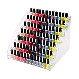 BigHala Nail Polish Rack 7 Tiers Acrylic Display Stands for Essential Oils Organizer, Shelf Lipstick Makeup Storage, Box Container Dropper Vape Spray Bottles Holder