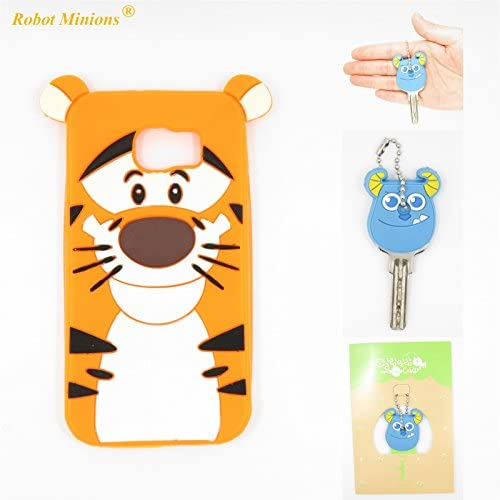 S7 Case,Galaxy S7 Case,Galaxy S7 Soft Silicon Gel Rubber Case,Robot Minions Classic 3D Cute Cartoon Figure [Tigger] Soft Silicon Gel Rubber Case Cover Sales