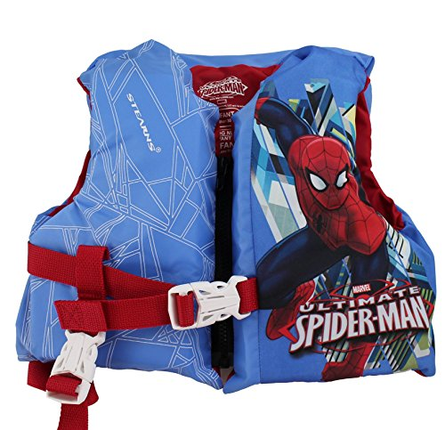 Spider Man Water Sports Vest (Coleman Stearns Spiderman Infant Pool Lake Life Jacket Vest with Rescue Handle)