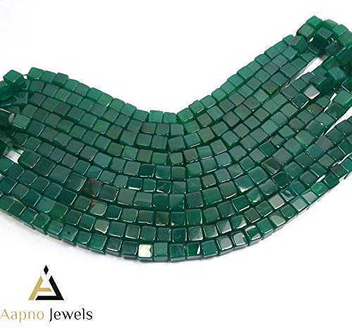 1 Strand Natural Green Jade Loose Beads Strand, 5-7mm 8 Inch Smooth Cube Box Green Jade Beads, Green Jade Beads Necklace, Jewelry Making Green Jade Beads, Knotted Green Jade Necklace