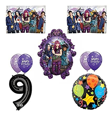 Image Unavailable Not Available For Color Disney The Descendants 2 Happy 9th Birthday Party Supplies
