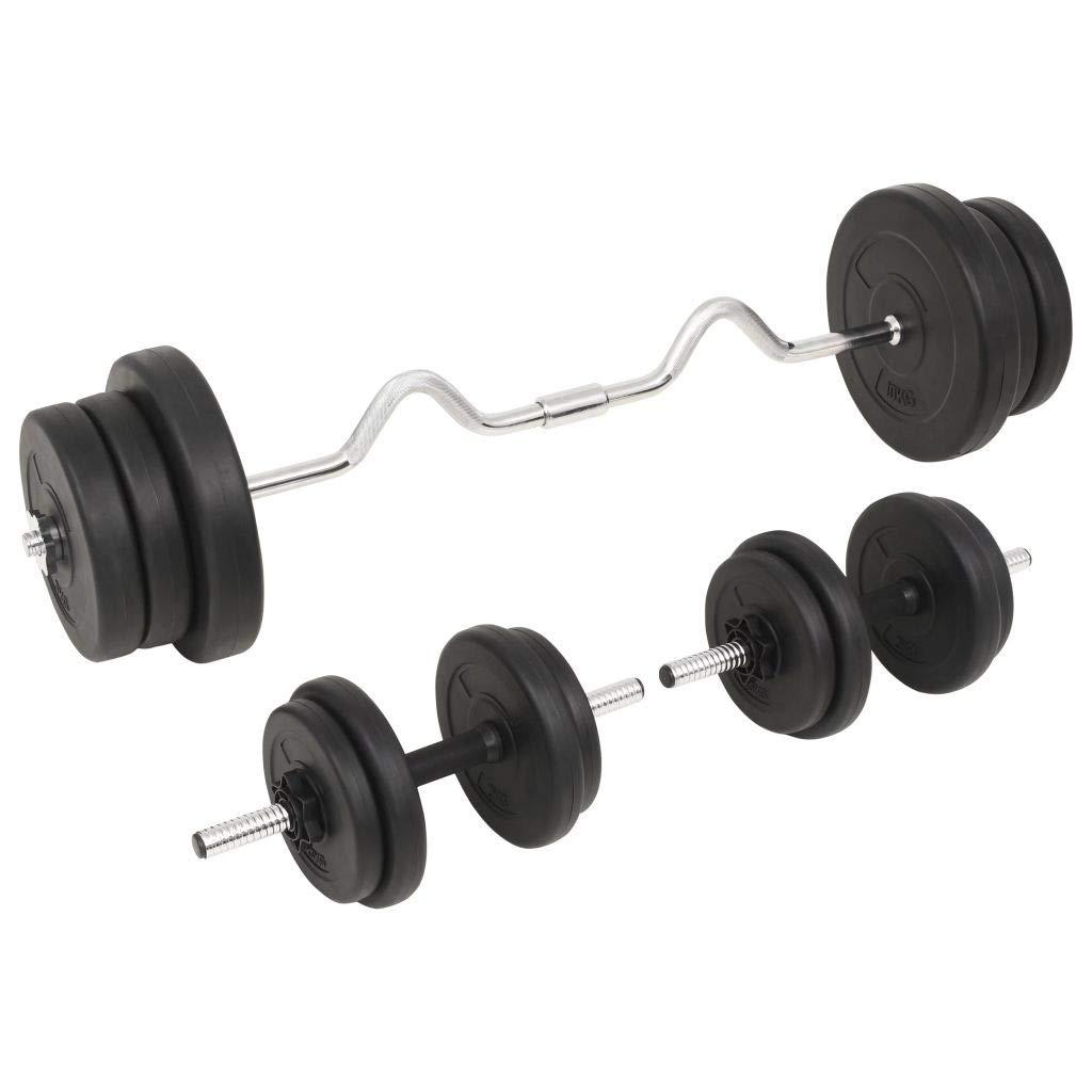 ghuanton Juego de Pesas 60 kg Barra y mancuernasDeportes Fitness y ...