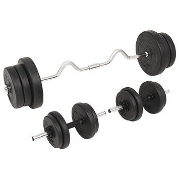 Xingshuoonline - Juego de Mancuernas y Mancuernas para Gimnasio y Fitness, 60 kg: Amazon.es: Deportes y aire libre