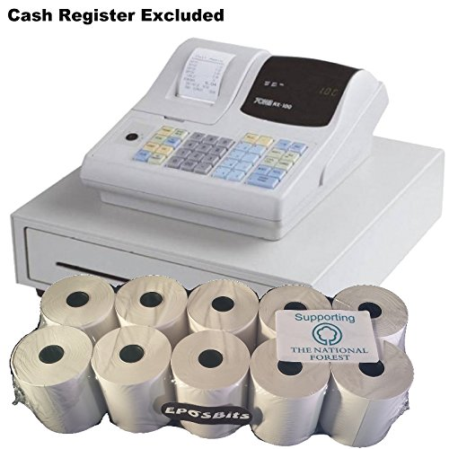 eposbits® marca rollos para Merlin/TOWA/Geller AX-100AX100blanco rollos de caja registradora–10