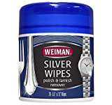 Weiman Silver Wipes for Cleaning and Polishing Silver Jewelry, Sterling Silver, Silver Plate and Fine Antique Silver - 20 count