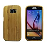 """Fashion Case"" Unique Eco-Friendly 100% Hand-made Real Natural Bamboo Hard Shell Case for Samsung Galaxy S6 (GMWD-S6-J02)"
