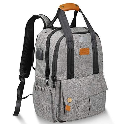 Diaper Bag Backpack Multi-Function Baby Bags for Dad and Mom with Stroller Straps,Changing Pad and Laundry Bag