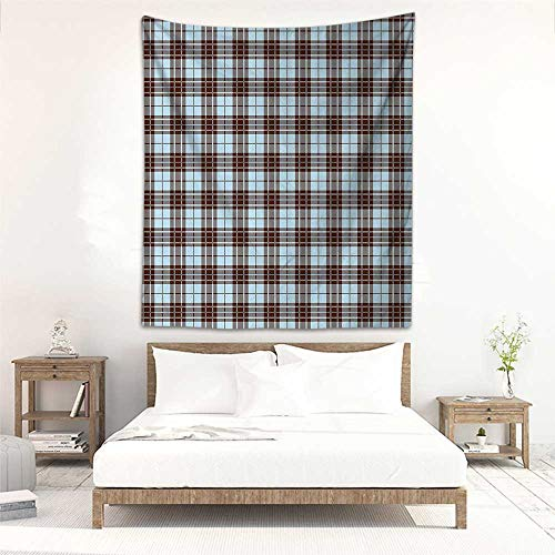 Godves Living Room Tapestry Abstract Tartan Folk Pattern British Culture Authentic Kitsch Artsy Pattern Tapestry for Home Decor 70