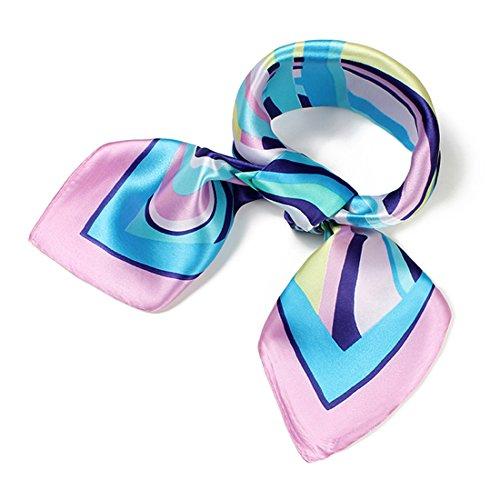 Little Mass 2 Piece (Women's Fashion Soft Elegant 60cm Neck Satin Square Scarves Vintage Floral (60cm60cm/23