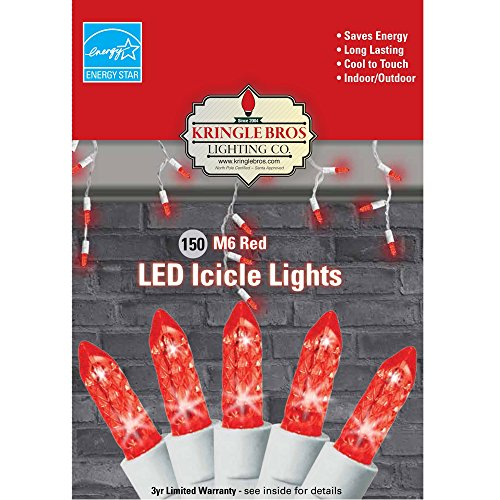 Red Led Icicle Christmas Lights in US - 1