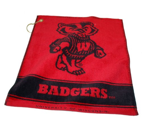 Team Golf NCAA Wisconsin Badgers Jacquard Woven Golf Towel, 16