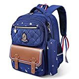 School Backpack for Boys, ICETEK Unisex Primary School Backpack Book Bag Travel Bag for Children Toddler Kids Boys Girls Outdoor Activities (3-Dark Blue)