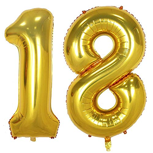 Tellpet Gold Number 18 Balloon, 40 Inch ()