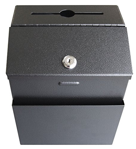 - Pyramid Heavy Duty 18 Gauge Steel Locking Suggestion Box - Black