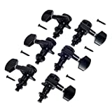 6pcs 3R3L Locking Tuners Pegs Machine Heads Black for Fender replacement