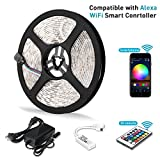 Litake LED Strip Lights, Wifi Wireless Smart Phone APP Controlled Light Strip Kit 16.4ft 300 Leds 5050 Waterproof IP65 LED Lights, Working with Android/IOS System, Alexa