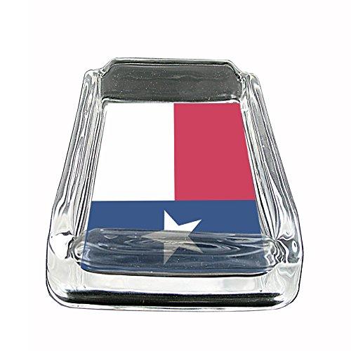 State Ashtray - Texas State Flag S1 Glass Square Ashtray 4