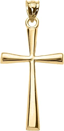 CROSS Charms Pendants  14k Gold Filled Skinnyy Cross 1-10 pcs 30 mm  Simple LARGE Crucific religious c30 p Yellow or Rose Gold Fill