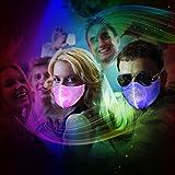 SAFEBAO LED Rave Mask 7 Colors Luminous Light for