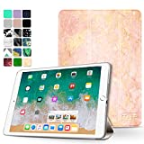 TNP New iPad 2018 2017 iPad 9.7 inch Case - Lightweight Smart Case Trifold Slim Shell Stand Cover with Auto Sleep Wake Function Feature for Apple iPad 9.7'' 2018 2017 Release Tablet (Marble Rose)